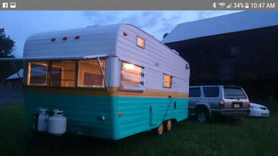 Vintage Terry Travel Trailer For Sale It Is Titled As A 1986 But We Believe It To Be An Early Travel Trailer Camper Trailer For Sale Travel Trailers For Sale