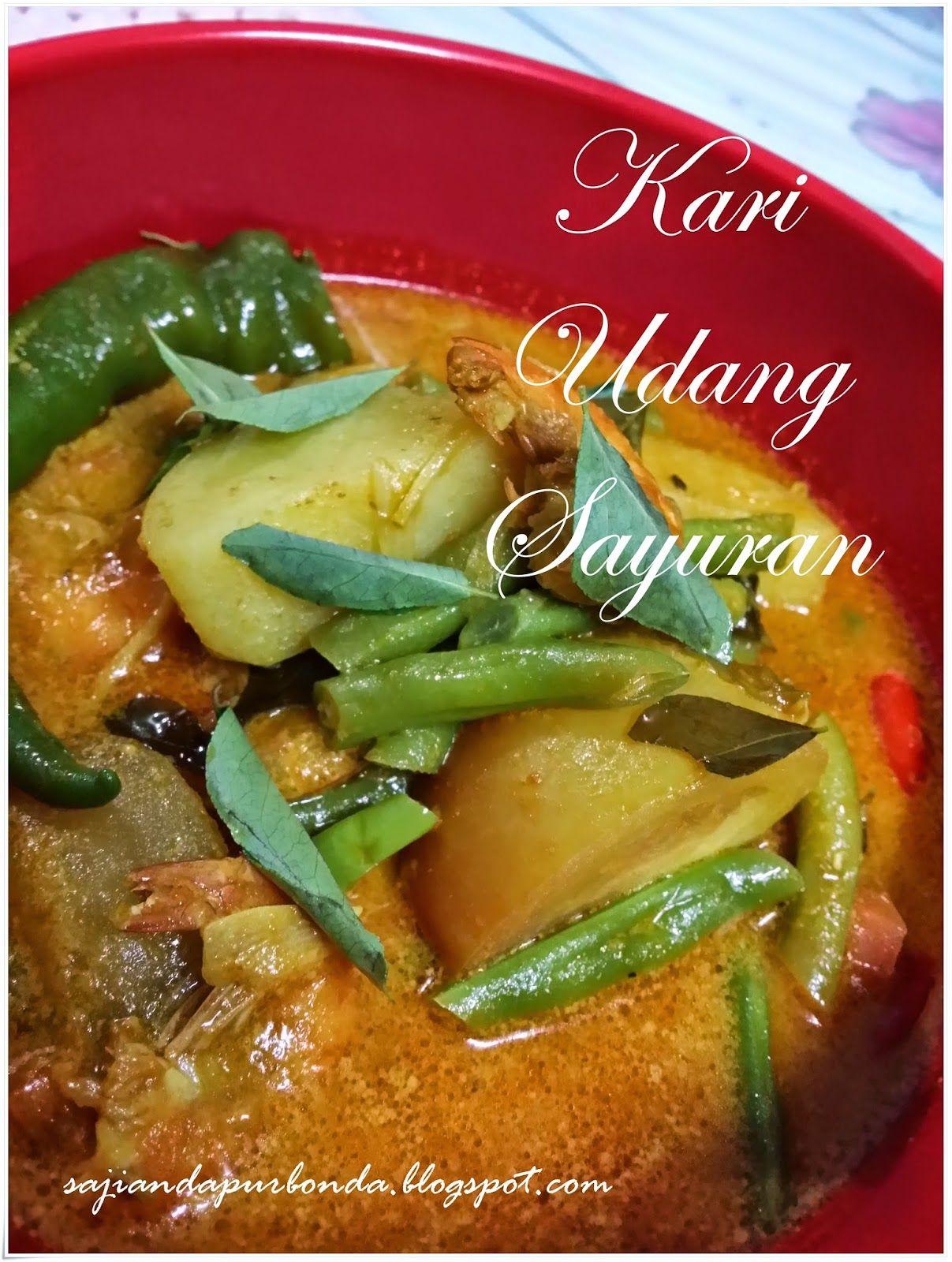 Sajian Dapur Bonda Kari Udang Sayuran