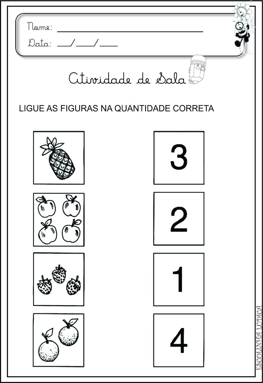 Atividade Matematica Para Educacao Infantil Atividades Para