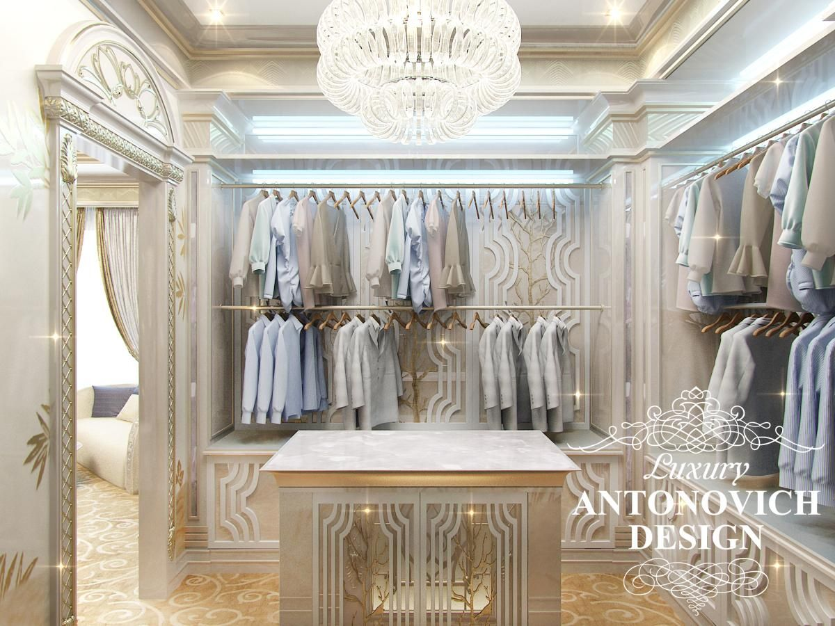 Beautiful dressing room design in dubai by luxury antonovich design - Cedar Closet Luxury Antonovich Design