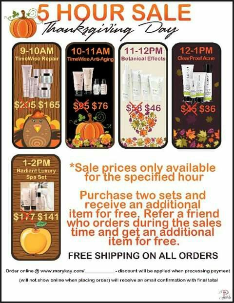 Mk Thanksgiving Specials Mary Kay Sale Mary Kay Gifts Mary Kay Party