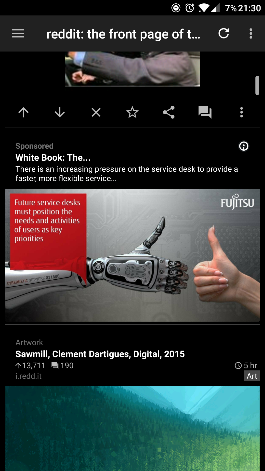 This ad on my reddit feed  Replacing humans with