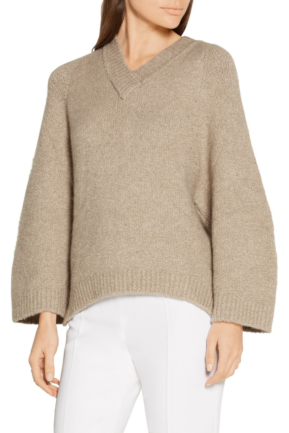 Shop on-sale Adam Lippes Oversized stretch-cashmere sweater ...
