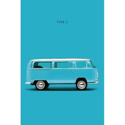 East Urban Home Volkswagen Type 2 Graphic Art Print On Canvas