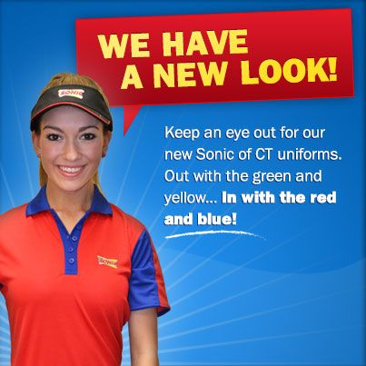 Our Carhops Have A New Look Check Out Our New Red And Blue Uniforms Red And Blue Mens Tops Mens Polo Shirts