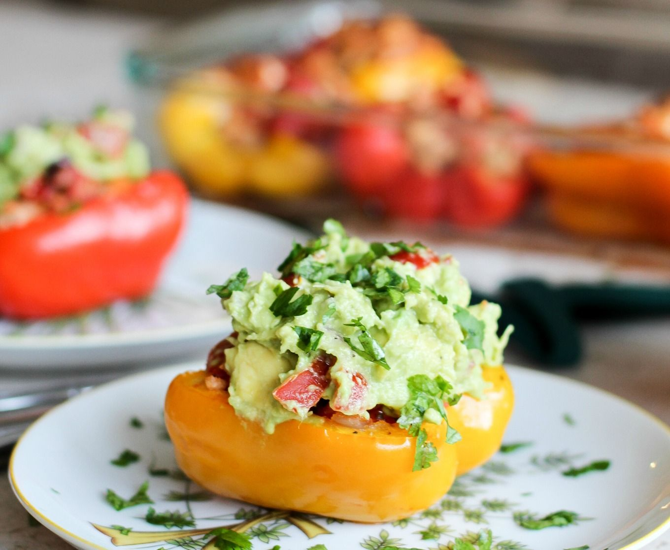 Whole30 Stuffed Peppers #whole30 #wholethirty #diet #dieting #fitness #healthyliving