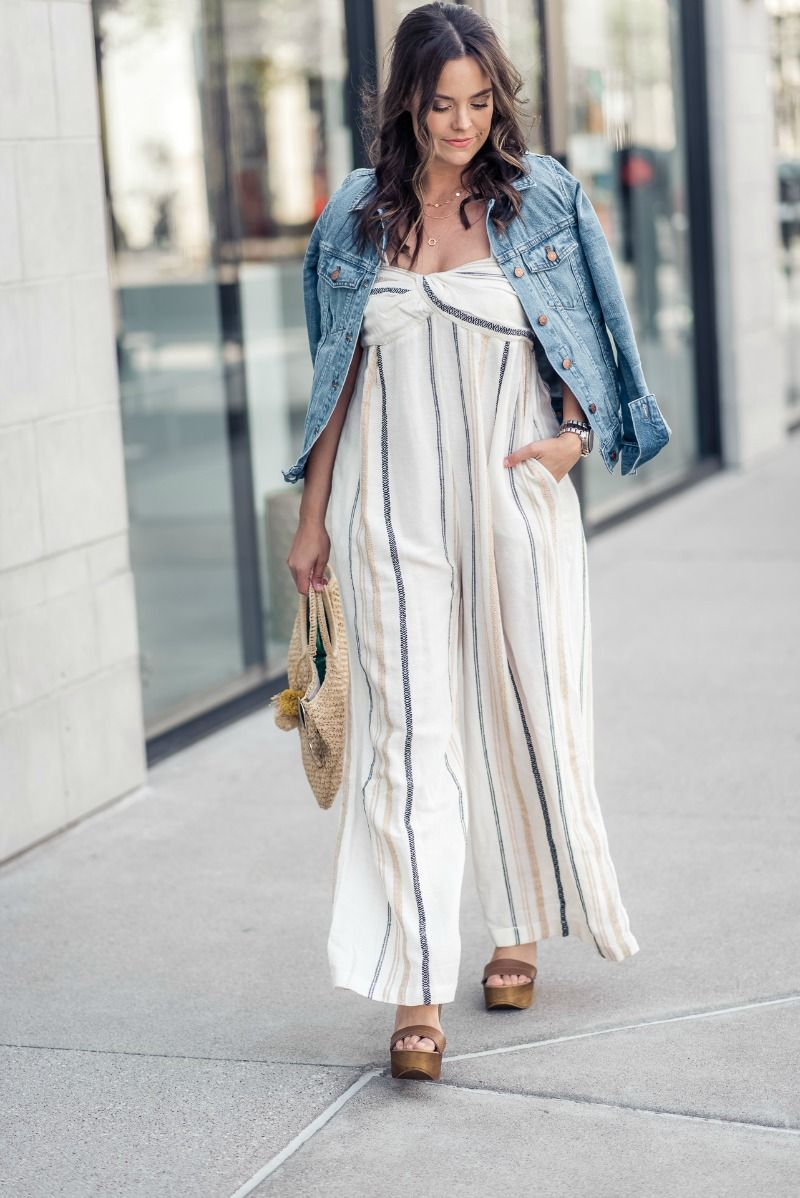 ad7faf3def4d FREE PEOPLE Breezin  Through Stripe Jumpsuit