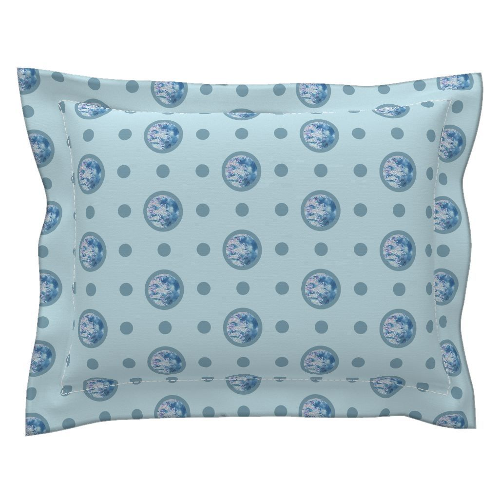 Sebright Pillow Sham with Flanged Detail featuring Pin&Pon Popreef by joancaronil | Roostery Home Decor
