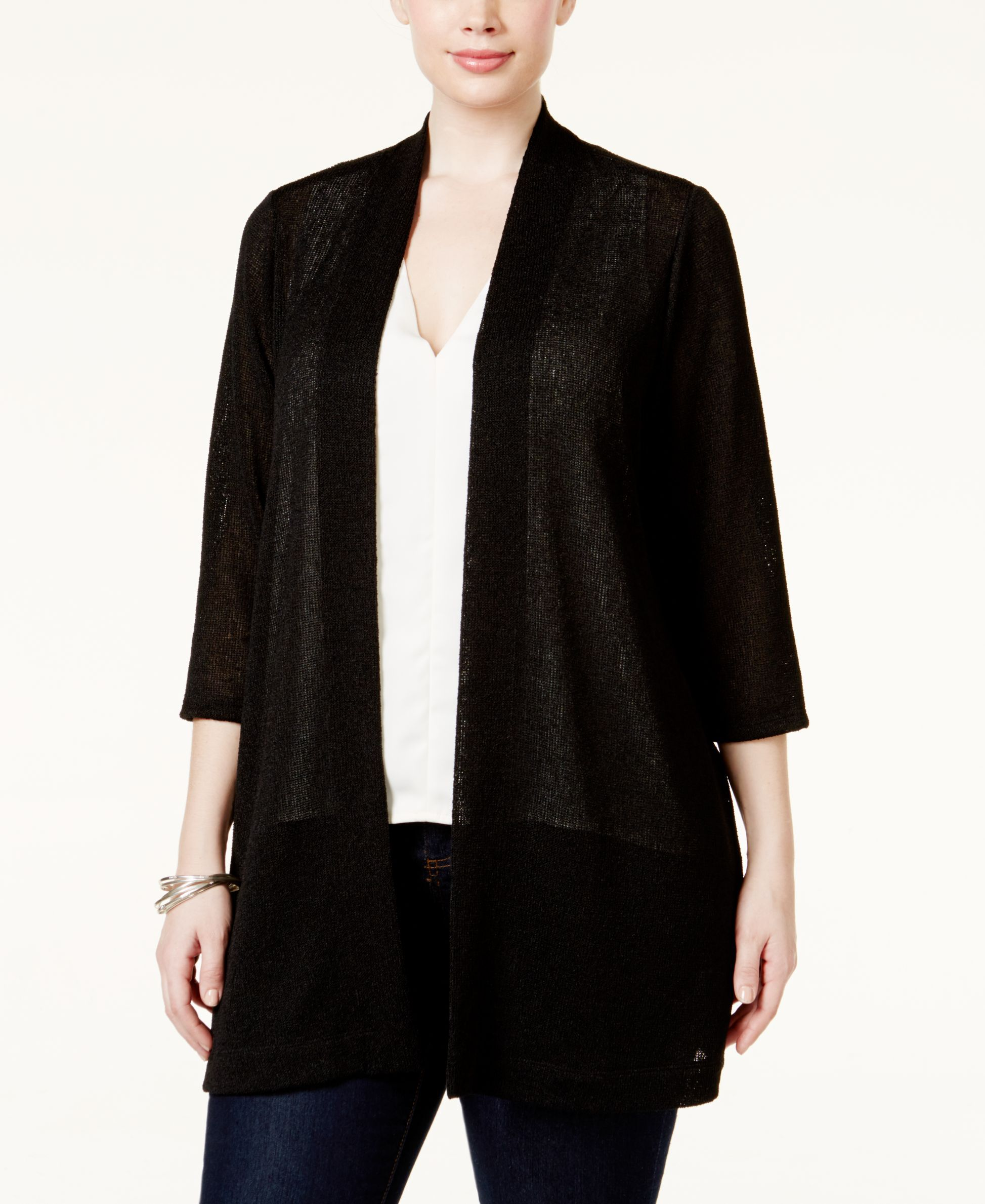 Alfani Plus Size Lightweight Long Cardigan, Only at Macy's ...