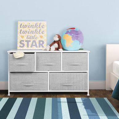 mDesign Unité de rangement pour armoire de commode pour chambre d'enfants / enfants – Large, Gris, …