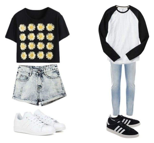 """Couple Outfit #15"" by jadahoran123 on Polyvore featuring Valentino, adidas, Gap and adidas Originals"