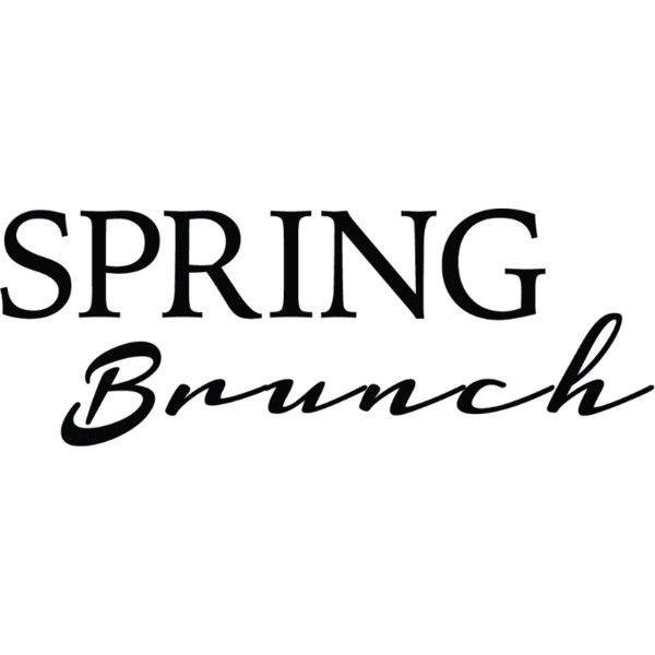 Spring Brunch text liked on Polyvore featuring text, words