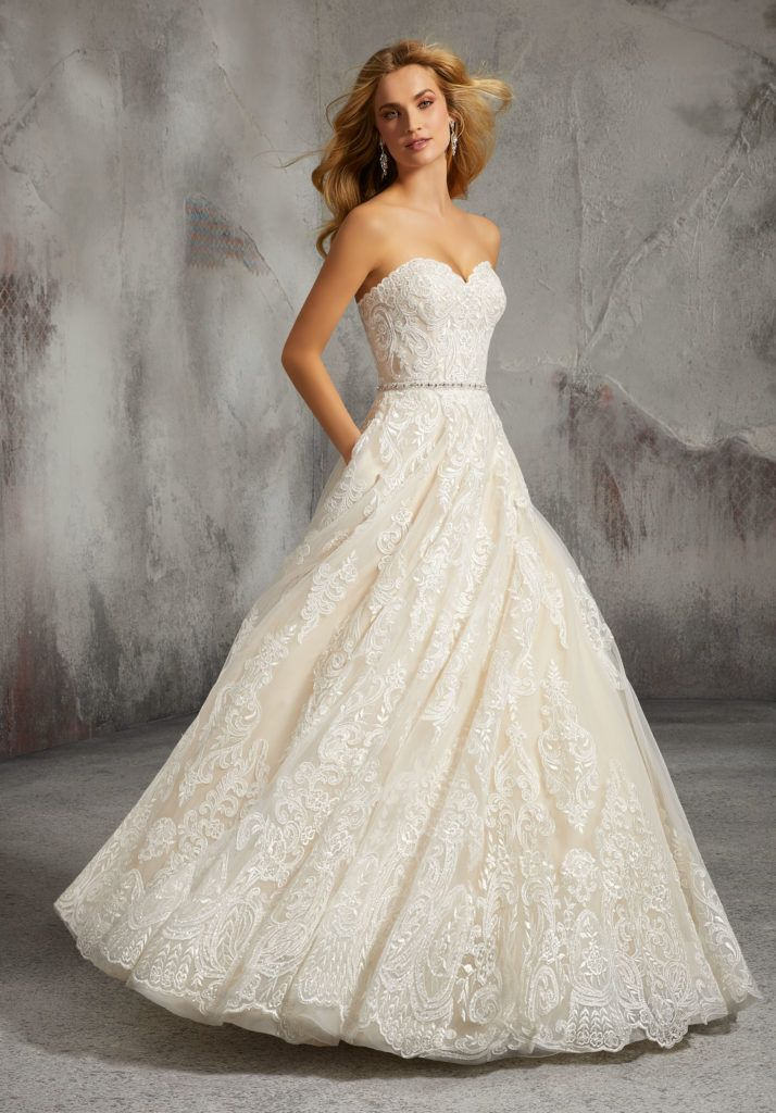 862508d651 Shop Morilee s Lisa Wedding Dress. Elegant Tulle Gown With Full A-Line  Skirt. Frosted