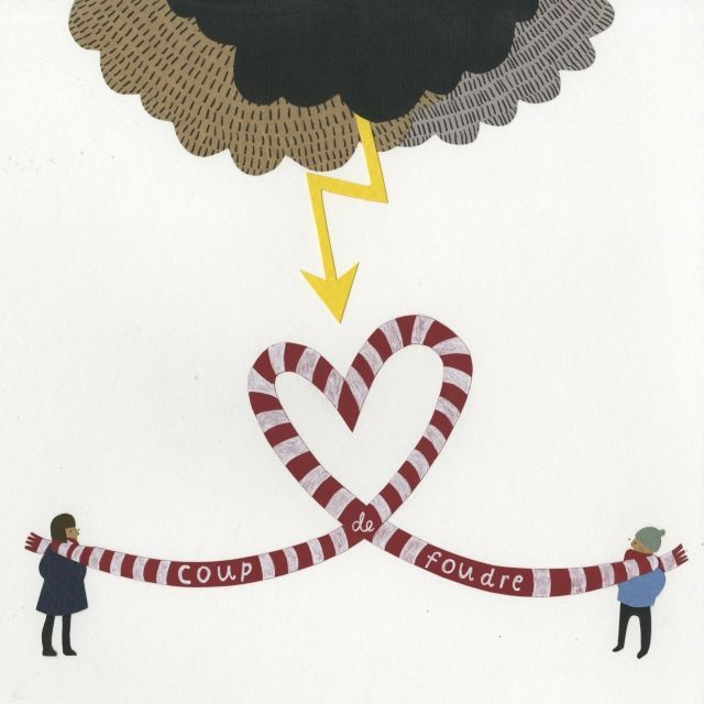 Coup de foudre collage by nic farrell paper tricks pinterest freelance illustrator - Coup de foudre definition ...