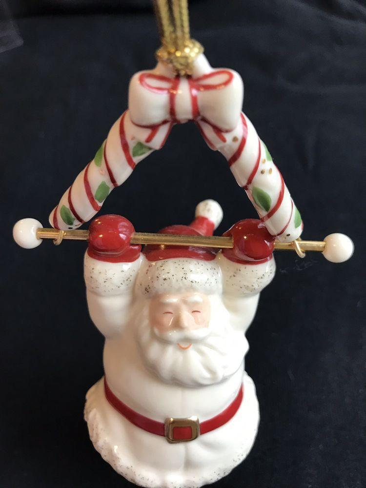Swinging Santa Lenox Christmas Ornament Porcelain Pristine In Box Pre-owned 2004 #Lenox ...