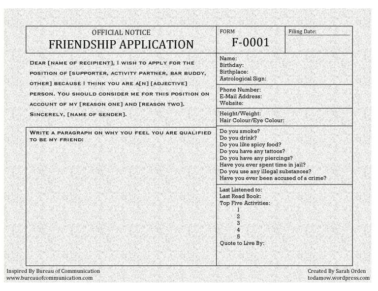 Friendship Application  Friendship Funny Posts And Hilarious