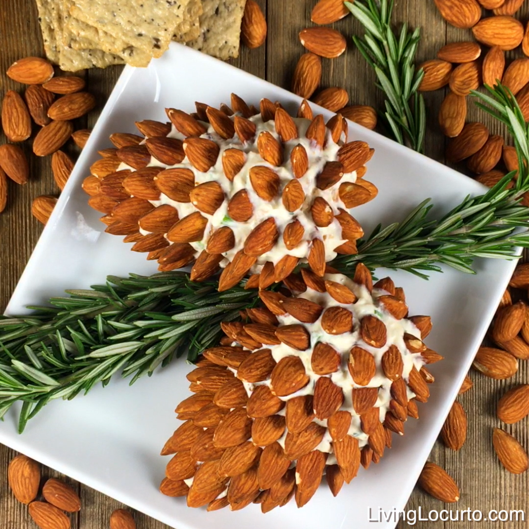 Pine Cone Cheese Ball with Almonds -   24 xmas food videos christmas dinners ideas