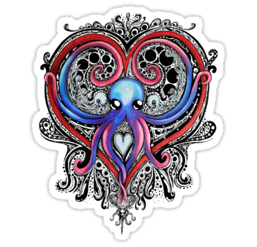 Octopus Heart shirt by jackdcurleo