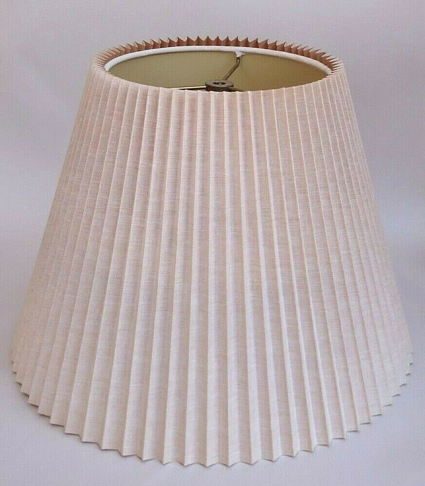 Vintage Stiffel Pleated Lamp Shade Replacement 11 Tall X 15