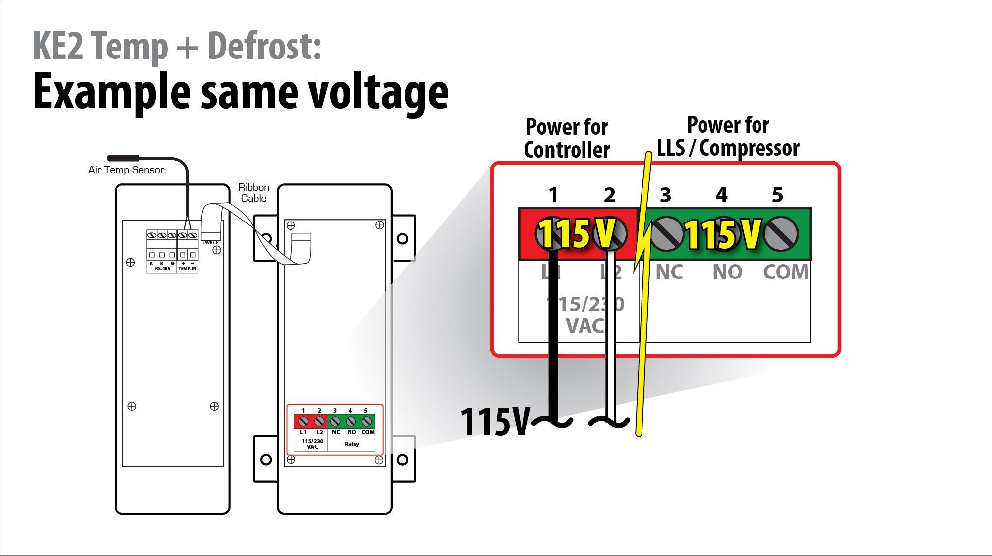 video 091 how to wire the ke2 temp + defrostl - ke2therm walk-in freezers