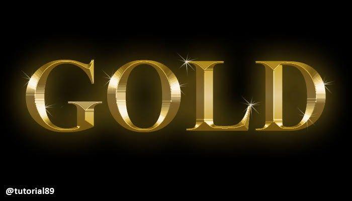 Cara Membuat Tulisan Efek Gold Dengan Photoshop Tutorial89 Photoshop Tulisan Belajar
