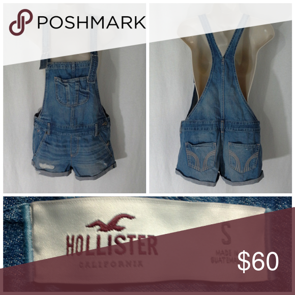 d983ddf3ff046 Hollister overalls shortalls Size S Med light blue Hollister overalls  shortalls Size S Medium light blue denim Hollister women s overalls  shortalls.