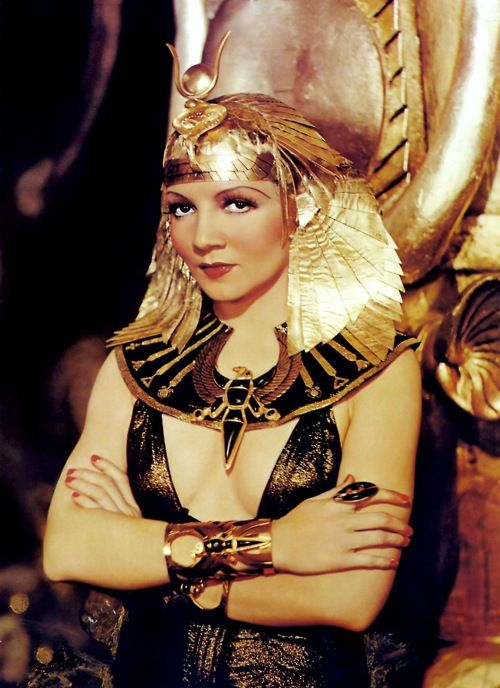 costumedramas:  Claudette Colbert in the title role of Cleopatra (1934).