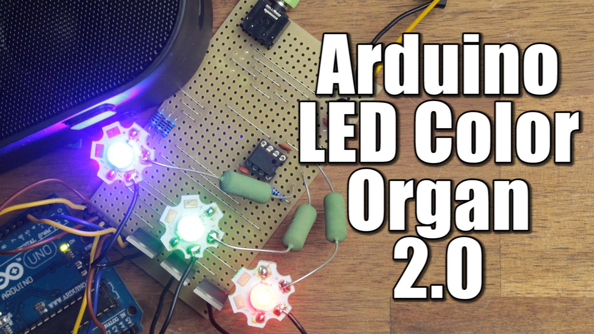 Diy Arduino Led Color Organ 2 0 In 2020