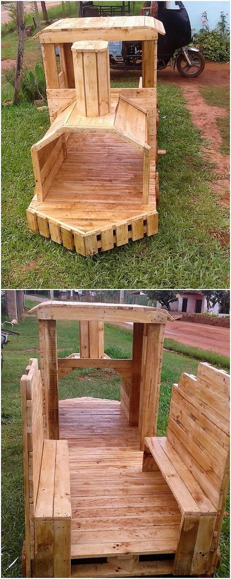 Splendid DIY Recycled Wood Pallet Creations   Spielplätze, Baumhaus ...