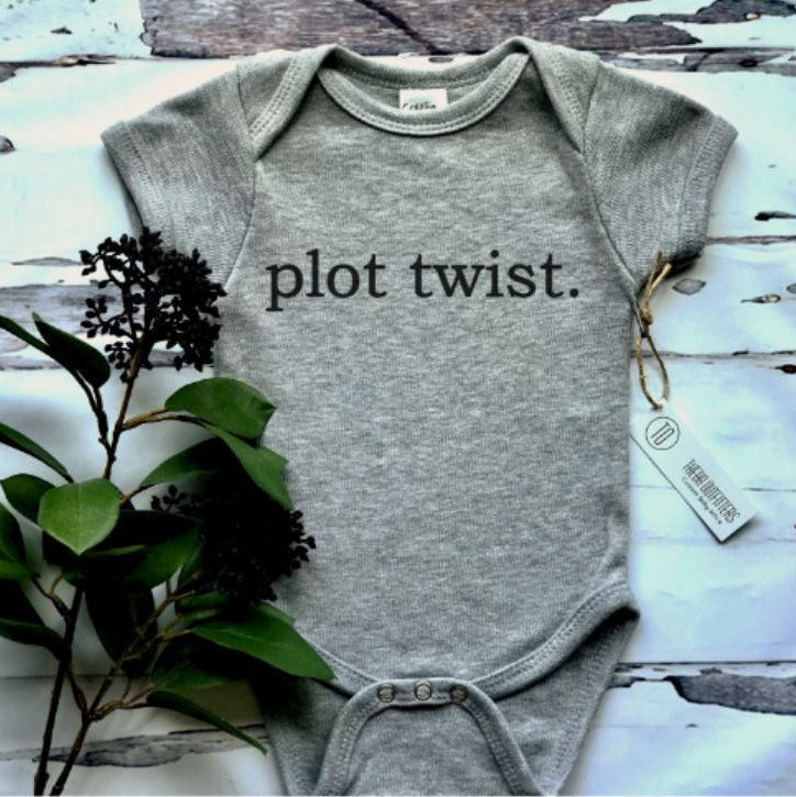 16d98a389 Pregnancy Announcement ONESIE®, Pregnancy Reveal, Plot Twist Onesie, Baby  Announcement Shirt, , Funny Onesie, New Baby, Baby Bodysuit by  ThebaOutfitters on ...
