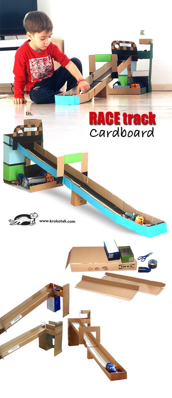 Ikea cardboard boxes race track gotta make it pinterest race