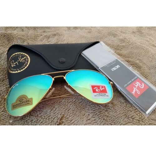 Oculos De Sol Aviador Feminino-masculino Lente Safira+brinde ... efa337a652