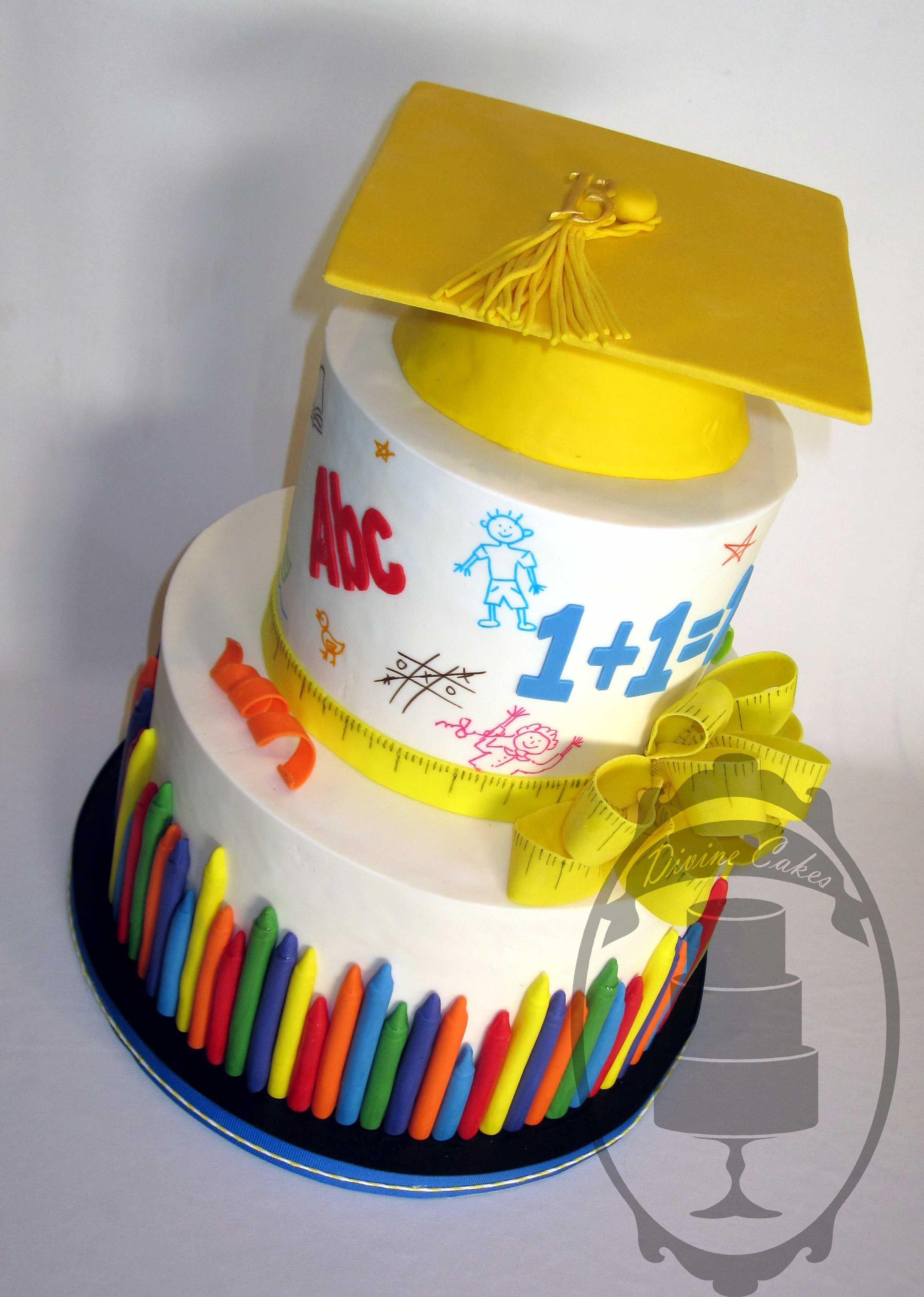 Little Kids Graduation Cake Food Pasteles De Graduacion Tortas