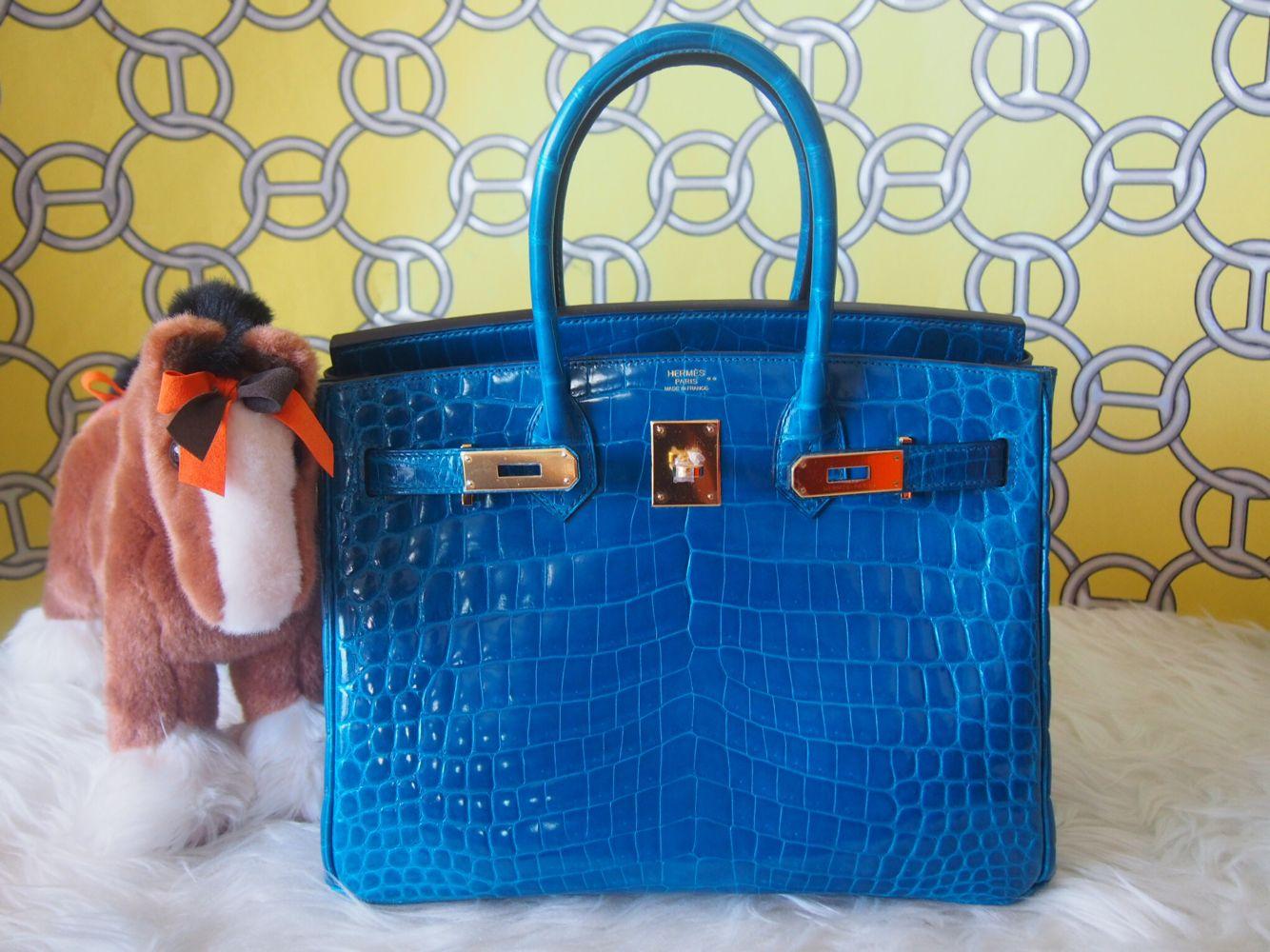 def0541ea5d Bnib Birkin 30 blue IZMIR ghw nilo shiny