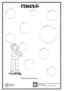 circle trace worksheet preschool vorschule schwung bungen und grundschule. Black Bedroom Furniture Sets. Home Design Ideas
