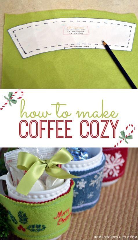 Do It Yourself Home Design: How To Make A Coffee Cozy {homemade Christmas Gift Idea