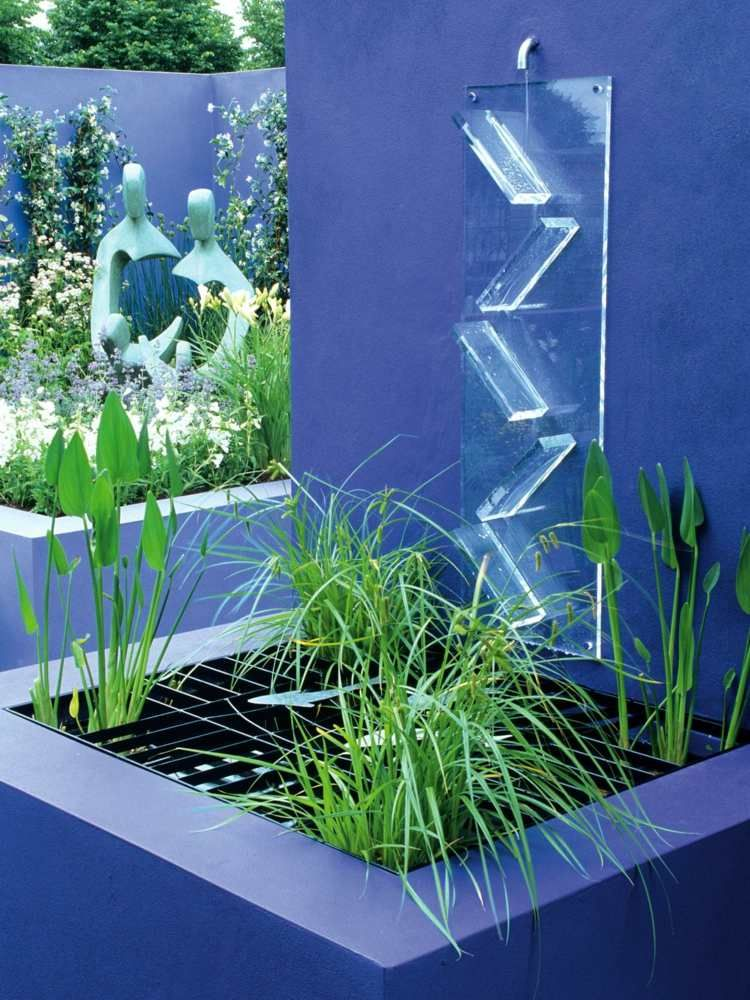 cascade fontaine de jardin et pi ce d eau projets modernes eau au jardin pinterest. Black Bedroom Furniture Sets. Home Design Ideas