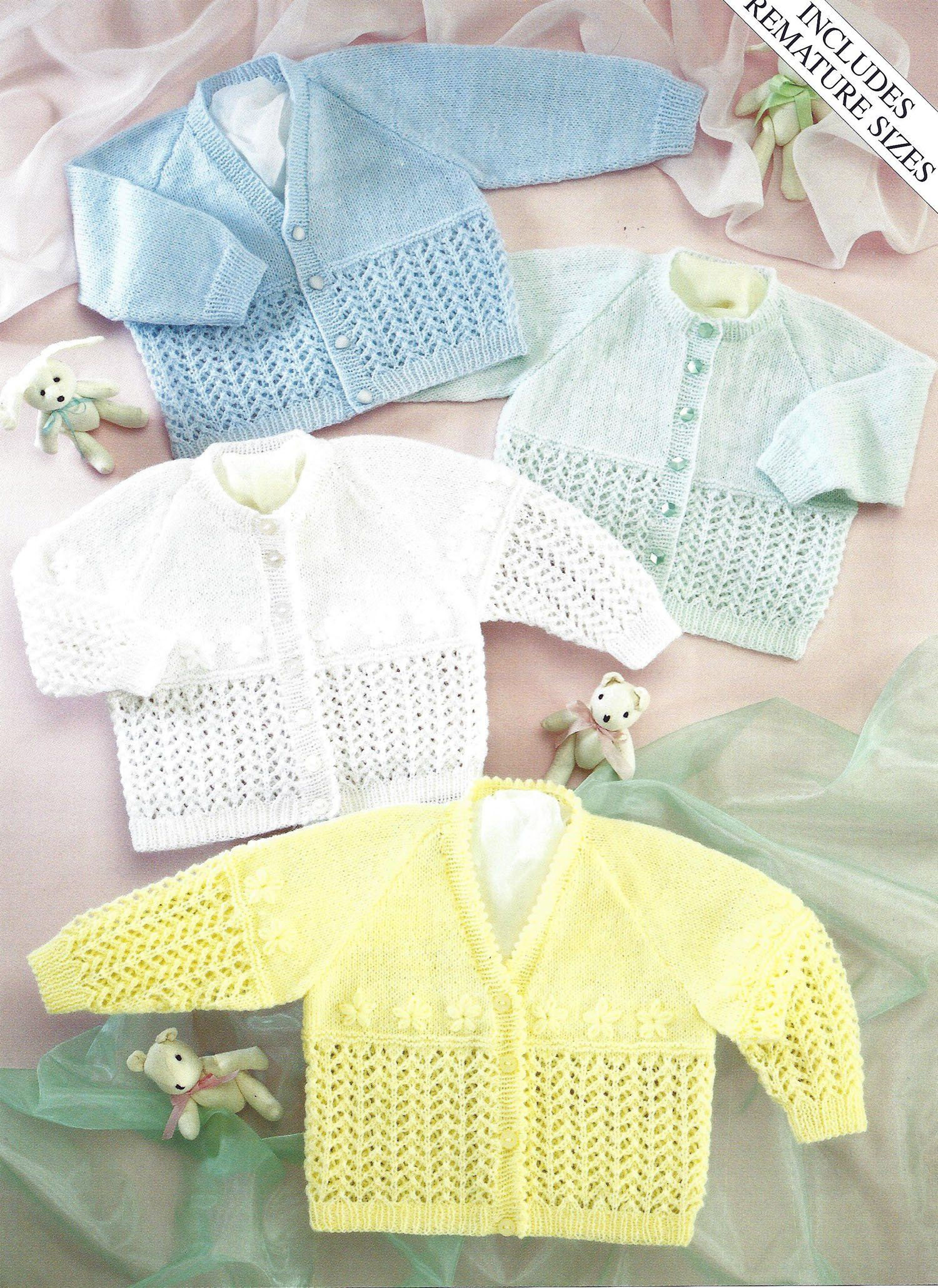 Pdf Instant Digital Download Premature Baby Doll 3 Ply Etsy Baby Cardigan Knitting Pattern Baby Knitting Patterns Cardigan Pattern