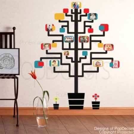 21cb716bada8 creative family tree decal (stands 65 inches high). Family Tree Wall Decals  - Display the Entire ...