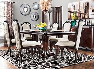 Valentina 7 Pc Dining Set Apartment Dining Room Transitional
