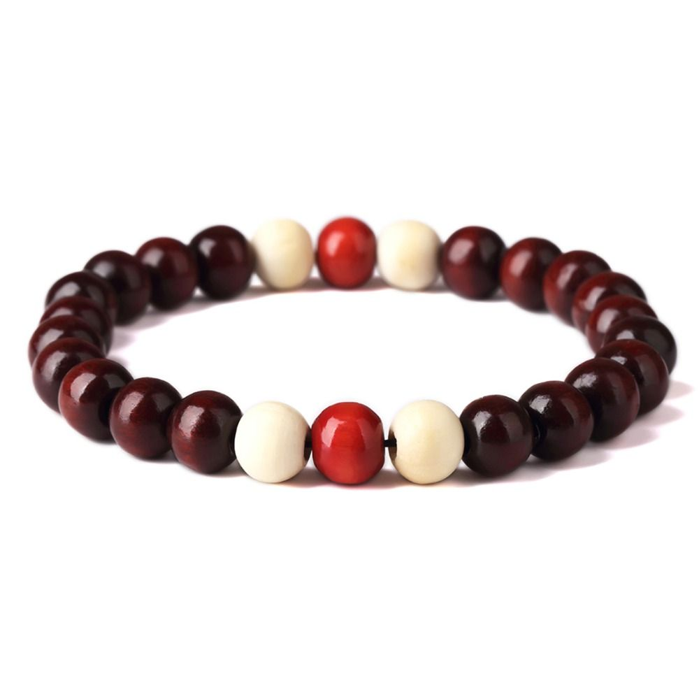 beaded wood product bead mens wooden black bracelet pillow