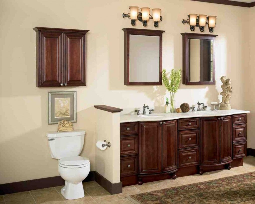 Cherry Wood Bathroom Cabinets