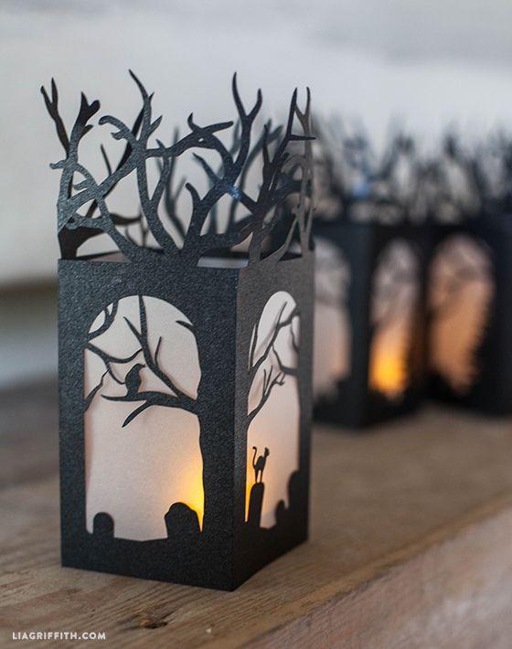 diy paper lanterns for halloween decorations homemade