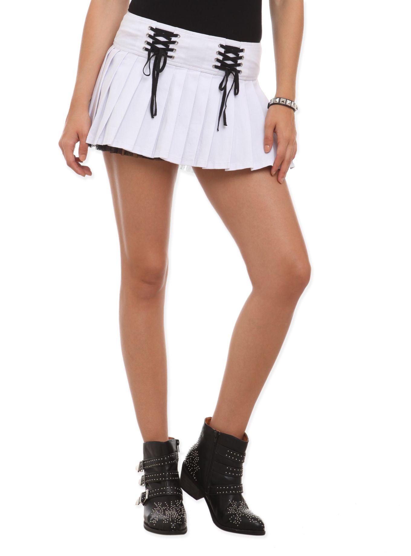 Royal Bones White Lace-Up Mini Skirt | Hot Topic | Skirts ...