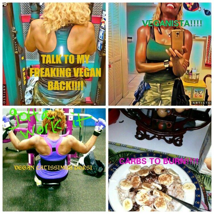 Gmg Peeps Monday Vegan Workout Back Abs Bellasupremaveganistafitness Vegan Fitness Vegan Workout