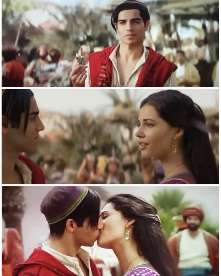Princess Jasmine And Aladdin S Happy Ending With A Kiss Of True