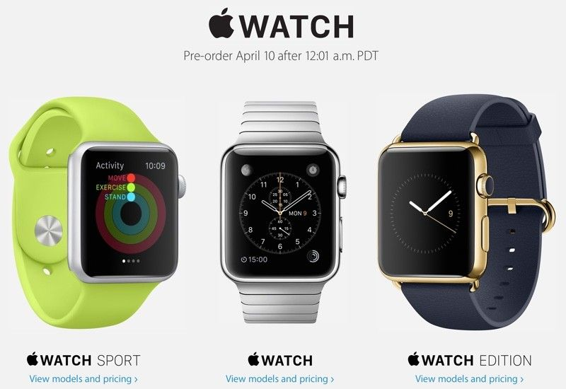 Apple Announces Apple Watch PreOrders Will Kick Off at 12