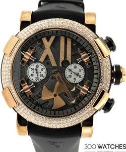 Romain Jerome RJ.T.CH.SP.003.01 Titanic DNA Steampunk 18k Gold Diamond Watch