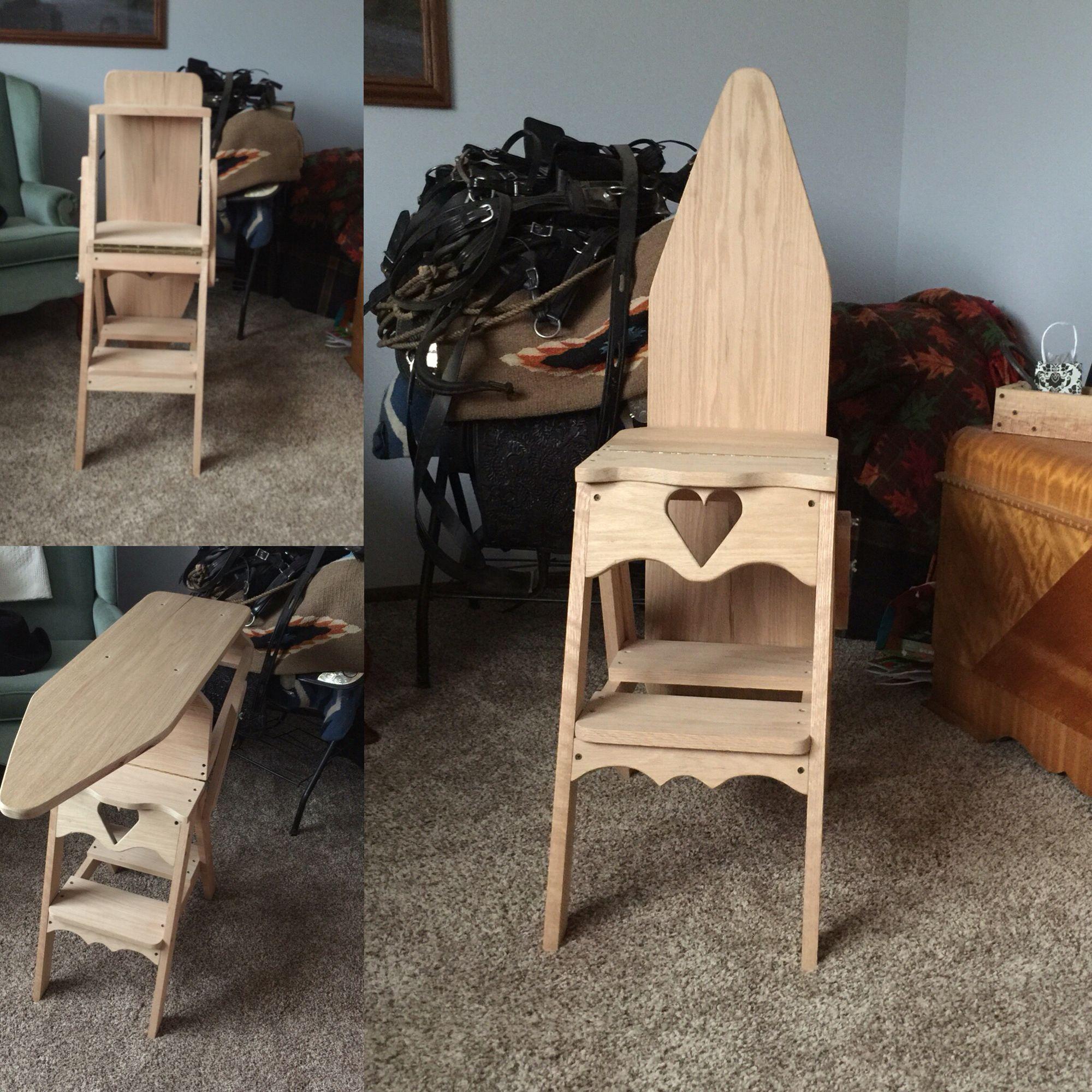 Fantastic 3In1 Ironing Board Step Stool Chair All Oak Built By John Uwap Interior Chair Design Uwaporg