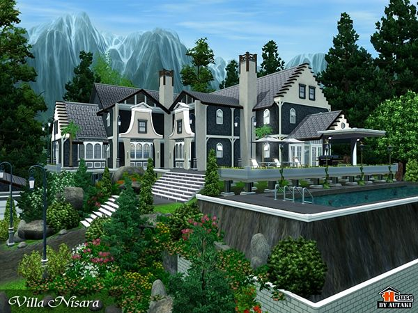 Nisara Villa By Autaki Sims 3 Downloads Cc Caboodle Sims Building Sims Sims 3 House
